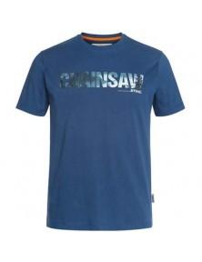 Синя тениска CHAINSAW STIHL