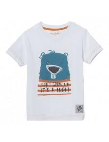Детска бяла тениска Бобър STIHL