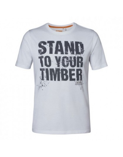 "Tениска бяла STIHL ""STAND TO YOUR TIMBER"""