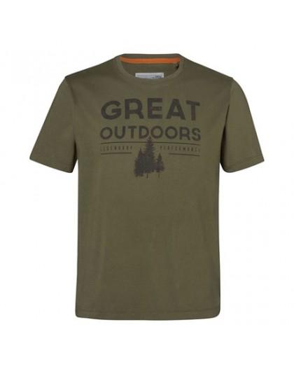"""Мъжка тениска """"OUTDOORS"""" STIHL маслинено зелена"""