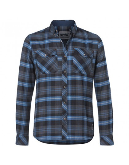 Дамска риза STIHL синьо каре