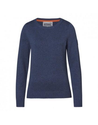 Дамски пуловер STIHL син